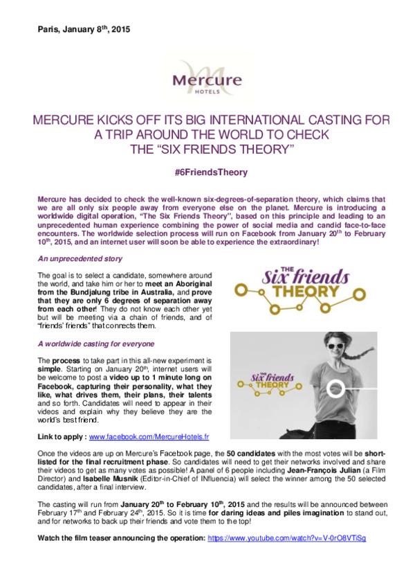 PR_Mercure kicks off its casting for the operation 6 Friends Theory_Jan 2015_EN.pdf