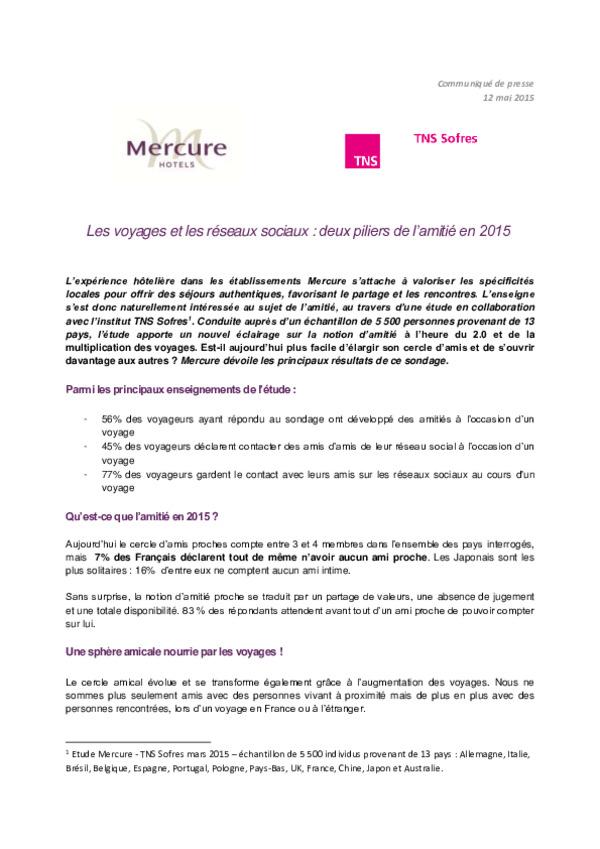 CP_Resultats Etude TNS-Mercure_Amitie reseaux sociaux et voyages_12 mai 2015.pdf