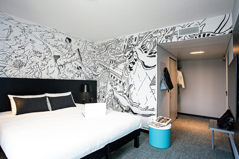 C'est pô une blague ! ibis Styles inaugure à Carouge le premier hôtel entièrement dédié à la bande dessinée !