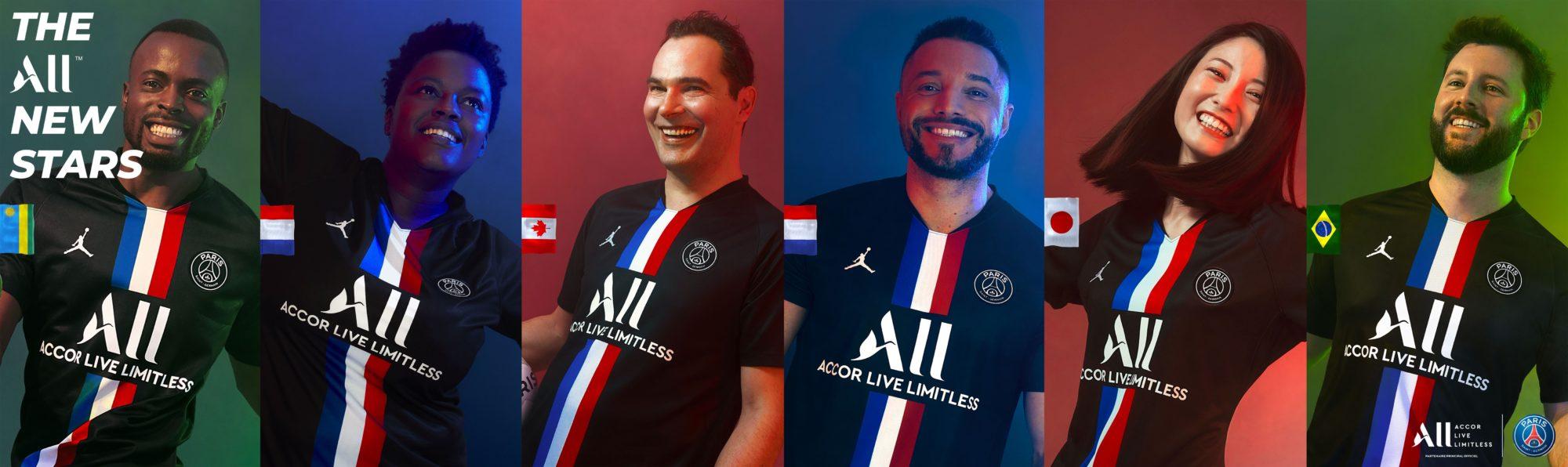 Six membres Accor Live Limitless égéries du nouveau maillot du Paris Saint-Germain