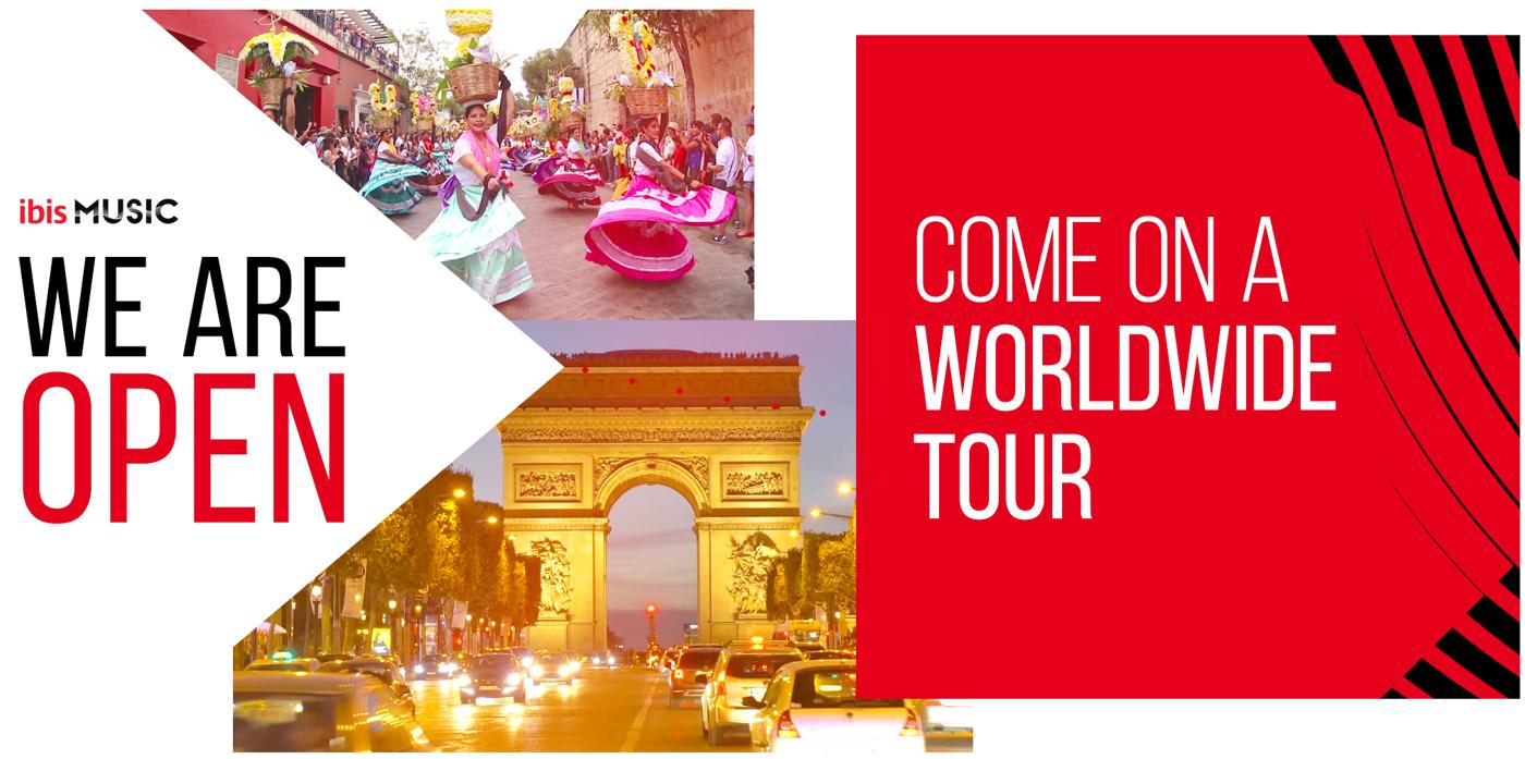 ibis MUSIC lance un tour du monde musical afin de partager un message d'ouverture et d'espoir